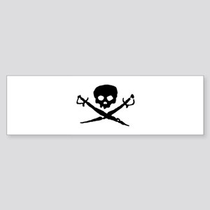 skull2-w Sticker (Bumper)