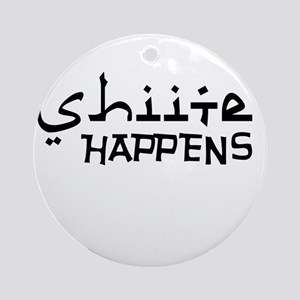 shiite-happens-v Ornament (Round)