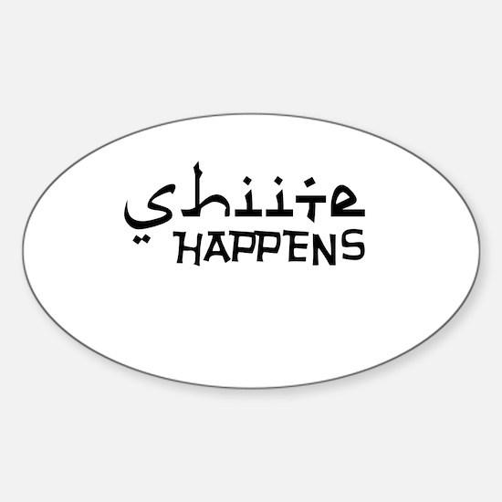 shiite-happens-v.png Sticker (Oval)