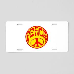 peace-n-w Aluminum License Plate