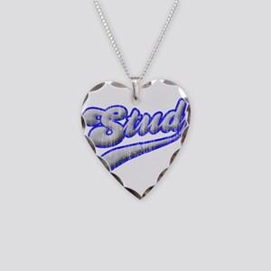 stud Necklace Heart Charm