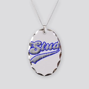 stud Necklace Oval Charm