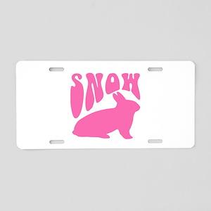 Snow Bunny Aluminum License Plate