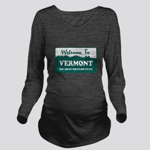 vermont1 Long Sleeve Maternity T-Shirt