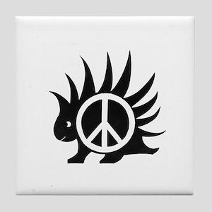 Porcupine Peace Tile Coaster