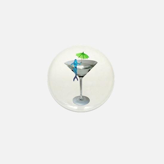 Mermaid Martini Mini Button