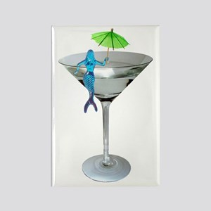 Mermaid Martini Rectangle Magnet