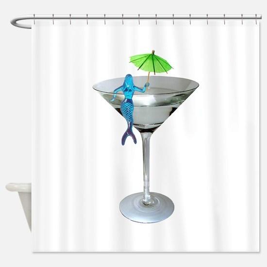 Mermaid Martini Shower Curtain