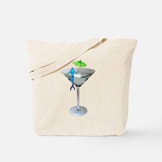 Mermaid Martini Tote Bag