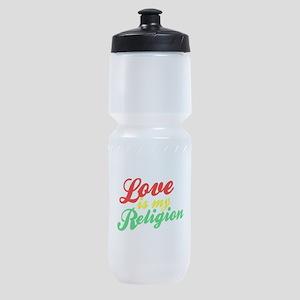 Love is my Religion Sports Bottle