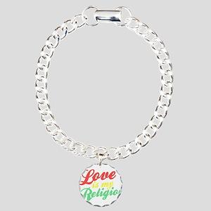 Love is my Religion Charm Bracelet, One Charm