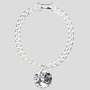 raw-lion-b Charm Bracelet, One Charm