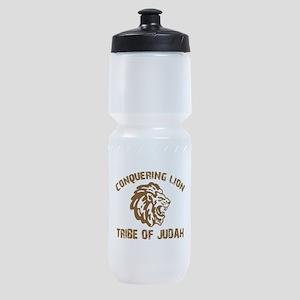 conquering-lion-w Sports Bottle