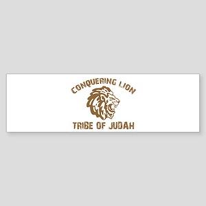 conquering-lion-w Sticker (Bumper)