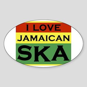 love-ska-w Sticker (Oval)