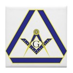 The Masonic Triangle Tile Coaster