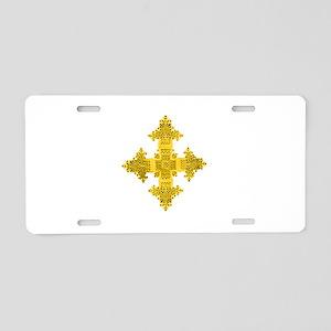 rasta-cross-w Aluminum License Plate