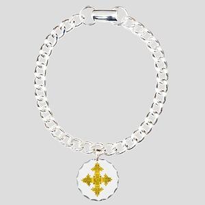 rasta-cross-w Charm Bracelet, One Charm