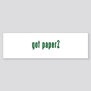 got-paper-w Sticker (Bumper)