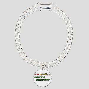 419-w Charm Bracelet, One Charm