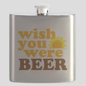 wish you were BEER Flask