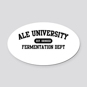 ale-NEW-w.png Oval Car Magnet