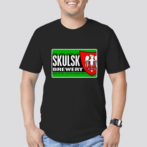 SKULSK-n-white Men's Fitted T-Shirt (dark)