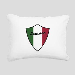 Scooter Shield Rectangular Canvas Pillow