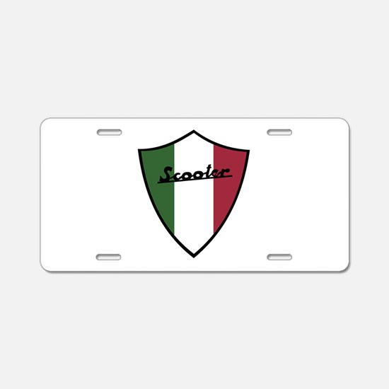 Scooter Shield Aluminum License Plate
