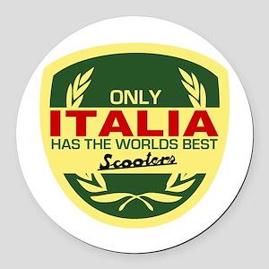 Italia Scooter Round Car Magnet