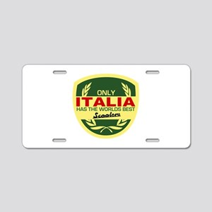 Italia Scooter Aluminum License Plate