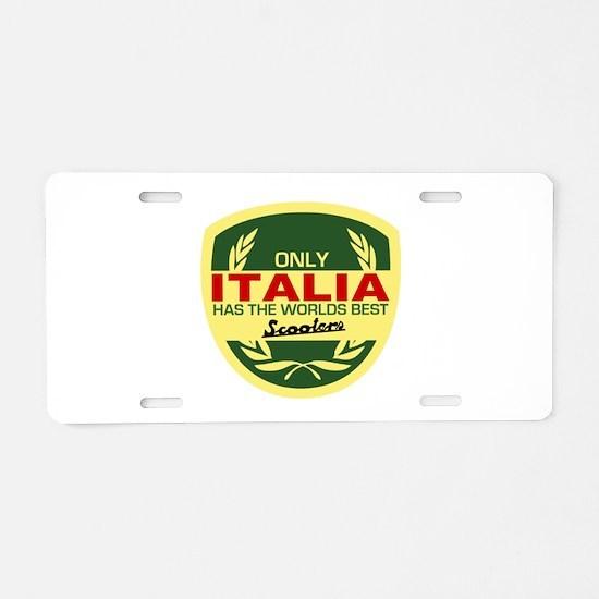 Italia Scooter Aluminum License Plate