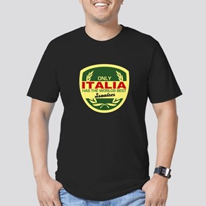 Italia Scooter Men's Fitted T-Shirt (dark)
