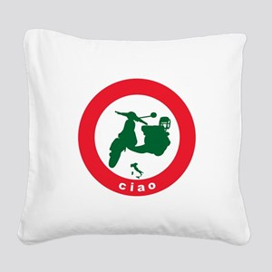 ciao-scooter Square Canvas Pillow