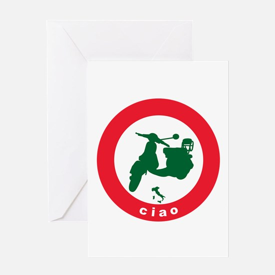 ciao-scooter.png Greeting Card
