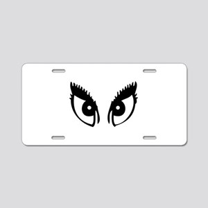 Girly Eyes Aluminum License Plate