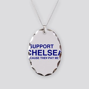 I Support Chelsea Necklace Oval Charm