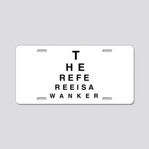 Blind REFEREE Aluminum License Plate