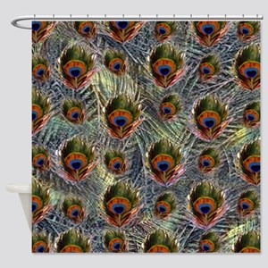 Peacock Feather Pattern Shower Curtain