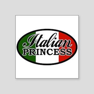 "italian-princess Square Sticker 3"" x 3"""