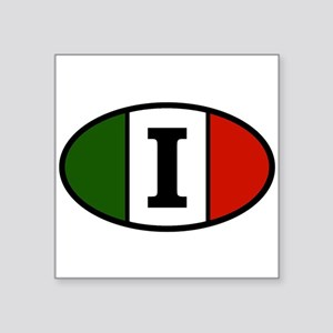 "italy-i Square Sticker 3"" x 3"""