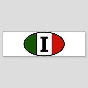 italy-i Sticker (Bumper)