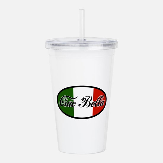 ciao-bella-OVAL2.png Acrylic Double-wall Tumbler