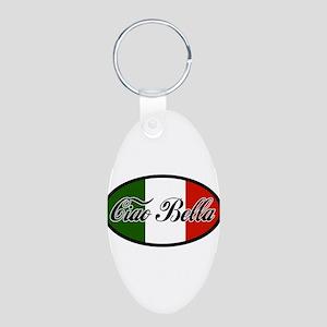 ciao-bella-OVAL2 Aluminum Oval Keychain