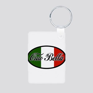 ciao-bella-OVAL2 Aluminum Photo Keychain