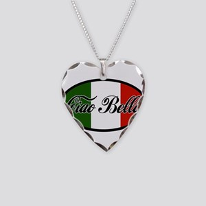 ciao-bella-OVAL2 Necklace Heart Charm