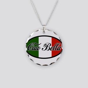 ciao-bella-OVAL2 Necklace Circle Charm