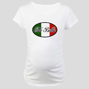 ciao-bella-OVAL2 Maternity T-Shirt
