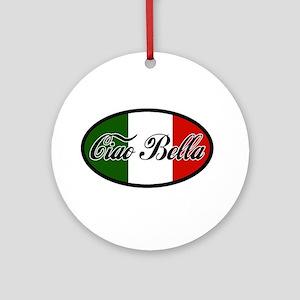 ciao-bella-OVAL2 Ornament (Round)