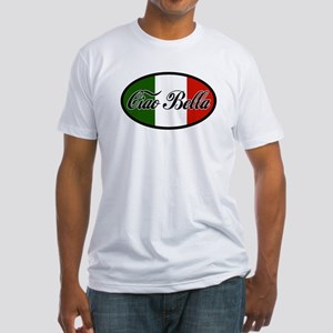 ciao-bella-OVAL2 Fitted T-Shirt
